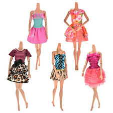 Lot 5 Pcs Handmade Wedding Dress Party Gown Clothes Outfits For Barbie Doll Gift