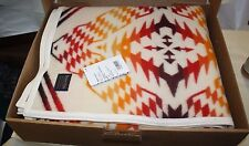 "PENDLETON THUNDER & EARTHQUAKE BLANKET 64""X80"" IVORY NIB FREE SHIPPING"