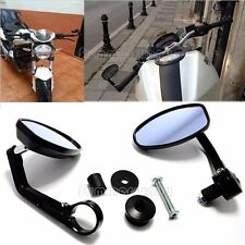 """Universal CNC Handlebar Round Rearview Side Mirrors For 7/8"""" Bar End Motorcycle"""