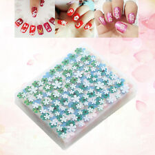 50 Pcs Sheets 3D Design Nail Art Sticker Tips Decal Flower Manicure Stickers DIY