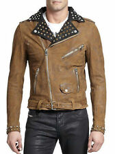 DIESEL L-Ulisses Leather Biker Jacket, L (UK 40 / IT 50) RRP £660