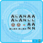 Alan Bicycle Decals Transfers Stickers - Black - Set 2