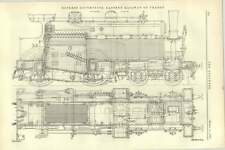 1892 Express Locomotive For Eastern Railway Of France Detailed Diagram
