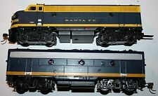 MODEL POWER METAL TRAIN F-7A F7-B LOCO SF SANTA FE DCC SOUND  HO GAUGE