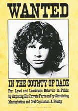 """DOORS   FLAGGE / FAHNE    """"WANTED"""" POSTER FLAG"""