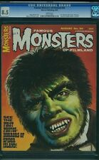 FAMOUS MONSTERS OF FILMLAND 34 CGC 8.5 WHITE PAGES SUPER COVER 1965