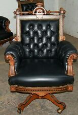 Victorian American Inlaid Swivel Chair by Hunzinger 1800-1899 #7478