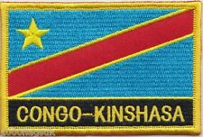 Congo Kinshasa Flag Embroidered Patch Badge - Sew or Iron on