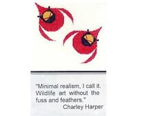CHARLEY HARPER CARDINALS IN FLIGHT CROSS STITCH CHART