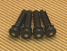 BP-0677-023 (4) Black Grooved Acoustic Bass Bridge Pins