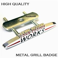 MINI COOPER John Cooper Works METAL GRILL BADGE EMBLEMA ONE S D COUNTRYMAN JCW 4G