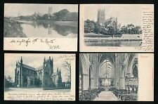 Worcestershire WORCESTER Cathedral x4 c1902 u/b PPCs