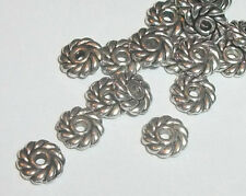 Antique silver plated 6mm round shaped spacer beads -- 100 pieces (3790AS)