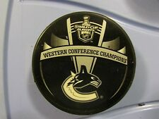 2011 NHL Western Conference Champions Vancouver Canucks Puck