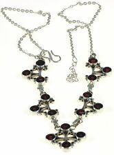 Garnet Ankura  Necklace Jewelry Genuine 925 Sterling Silver Artisan Handcrafted