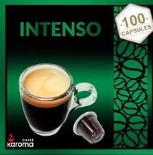 100 Italian Capsules Compatible NESPRESSO PODS. Karoma (INTENSO) STRONG!