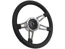 1984 - 2004 Ford Mustang Steering Wheel Kit 4 Slot Spoke, Black Pony Emblem