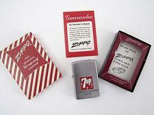 1958 ZIPPO 7 Up Lighter Mehler Bottling Works  - New Unfired -  Candy Stripe Box