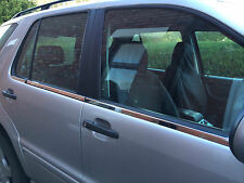 MERCEDES ML W163 WINDOW STRIPS CHROME STAINLESS STEEL, 96 - 05.