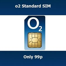 New O2 UK Combi Micro & Standard SIM Card Get Free Calls & Texts When You Top Up