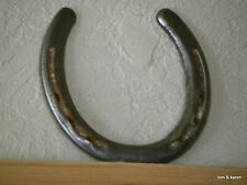 AUTHENTIC - USED ( WORN ) CAST IRON HORSESHOE FROM TEXAS WORKING RANCH HORSE-