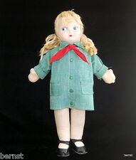 "GIRL SCOUT 1950s GEORGENE NOVELTIES 13"" CLOTH DOLL - ESTATE LIQUIDATION"