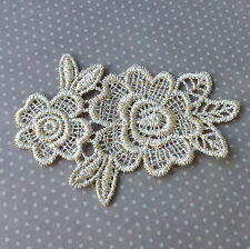 2 pcs Lace patch Flower, floral applique, 85x60mm, scrapbooking embellishment