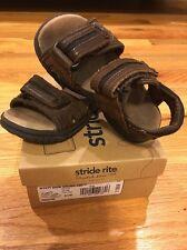 Stride Rite Toddler Boys Wyatt Dark Brown Sandals 6 1/2 W