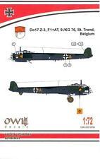 Owl Decals 1/72 DORNIER Do-17Z-3 German Bomber Based at St Trond Belgium