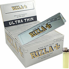 CARTINE RIZLA Lunghe SILVER ARGENTO LUNGHE SLIM KING SIZE  Box 50PZ