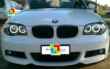 Fari anteriori angel eyes LED BIANCHI  BMW Serie 1 E87 + kit xenon installato