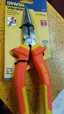 "IRWIN 1864075 LONG NOSE PLIER 8"" 1000 VOLTS NBR9699 CR-V"