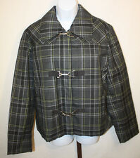 Bianca Nygard Weekend Womens Ladies Gray Yellow Plaid Short Jacket Size 16