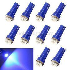 10x Ampoule T5 1LED 5050 SMD Bleu Lampe Xenon Compteur Wedge Tableau De Bord 12v