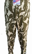 GYM SPORTS BAGGIES NEW BODYBUILDING WORKOUT BAGGYS S M  CAMO DESERT SAND  COTTON