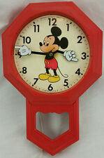 Vintage Welby Mickey Mouse Electric Wall Clock
