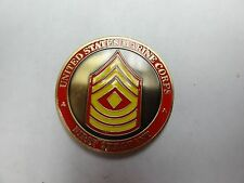 CHALLENGE COIN UNITED STATES MARINE CORPS FIRST SERGEANT DEPARTMENT OF THE NAVY
