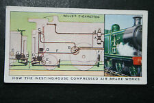 Westinghouse Compressed Air Brake    Original 1930's Vintage Card   VGC