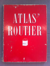 ‎Atlas routier PEUGEOT. Carte de la France, 9 planches, échelle 1/100.000‎ 1950'
