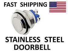 LOW Profile Stainless Steel DOORBELL Switch - Door BELL Momentary Push Button SW