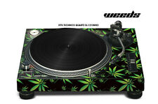 Skin Decal Sticker Wrap for Technics Quartz SL Turntable Pro Audio Mixer WEEDS K