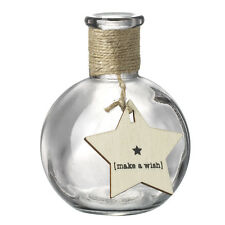 Make a Wish Glass Decorative Bottle Shabby Chic Rustic Home Accessories