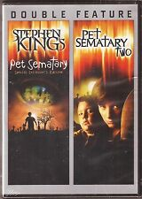 2-Movie Pet Sematary 1 & 2 - DVD Stephen King Double Feature BRAND NEW