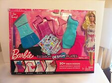 Barbie Fashion Design Plates 20+ Dress Designs Create Dresses Front and Back New