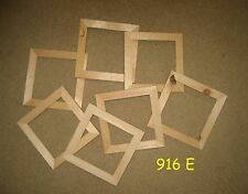 7 unfinished  wood 5x5 picture frames