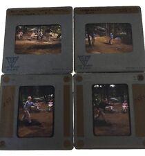 SVE Slide Binder Color Slide 1947 Men Playing Horse Shoes Lot Of 4