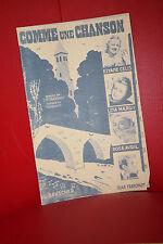 COMME UNE CHANSON (Rose AVRIL, Jean TRANCHANT 1940