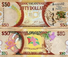GUYANA - 50 dollars 2016 FDS - UNC Commemorative