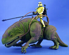 Star wars potf deluxe loose rare dewback avec exclusive sandtrooper mint. C-10+