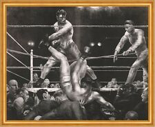 Dempsey and Firpo George Wesley Bellows Boxen Sport Ring Kampf Männer B A1 02053
